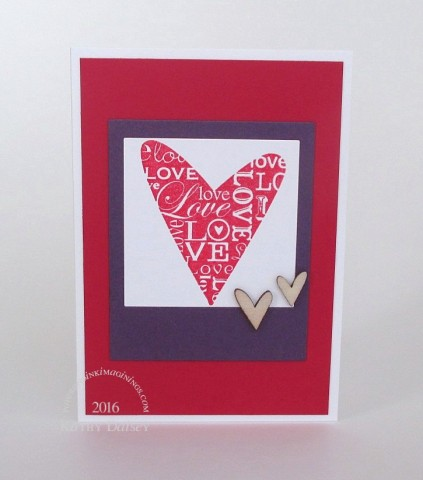 shimmering frame heart photo note