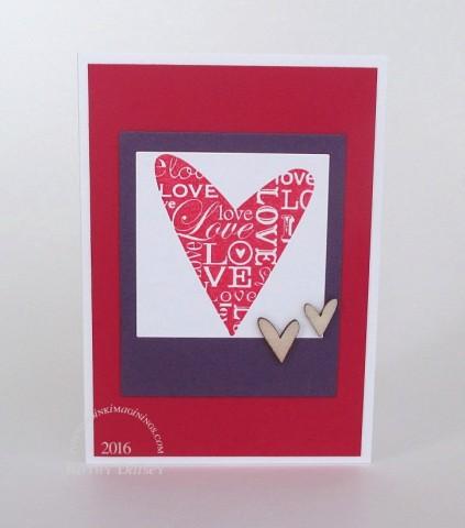 shimmering frame heart photo note