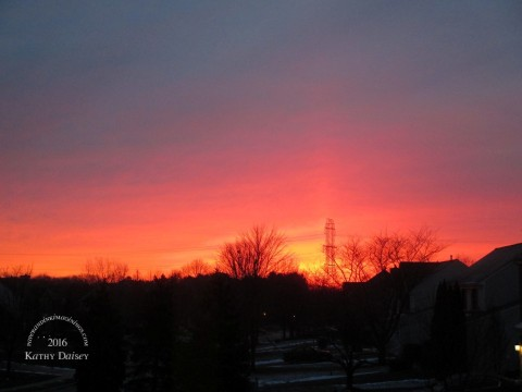 small red sunrise 01 22 2016 0710