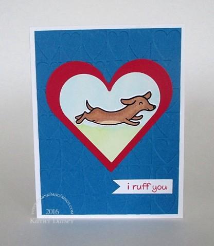 wiener dog heart valentine