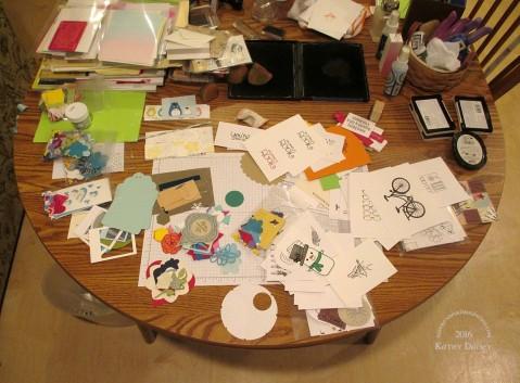 organizing scraps sorting