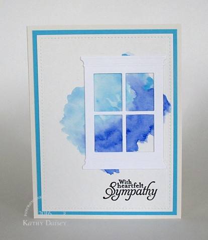 sympathy watercolor window