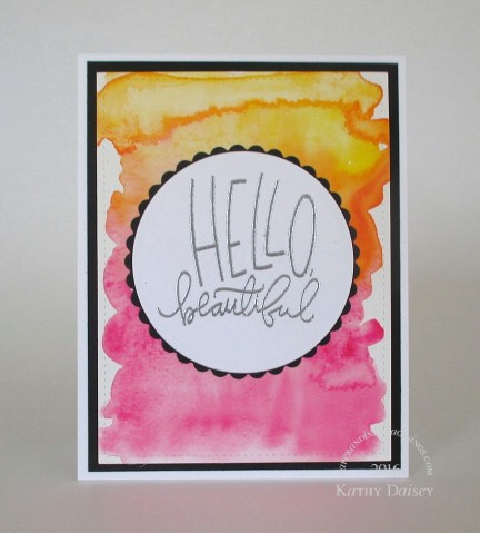 watercolored hello beautiful