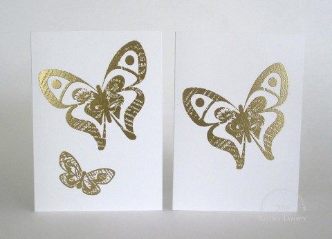 gold embossed butterfly notes