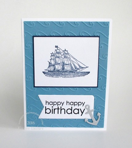 nautical birthday with anchor