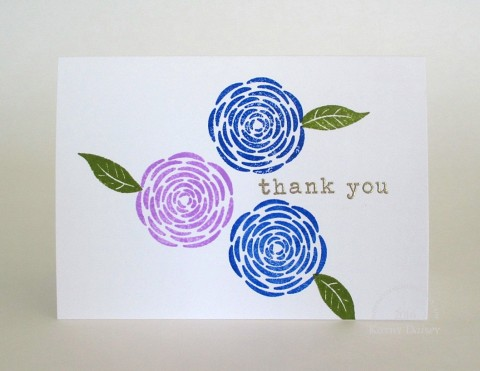 rannuculus thank you note