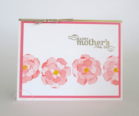 coral watercolored floral mothers day