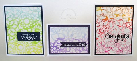 watercolor stencil trio