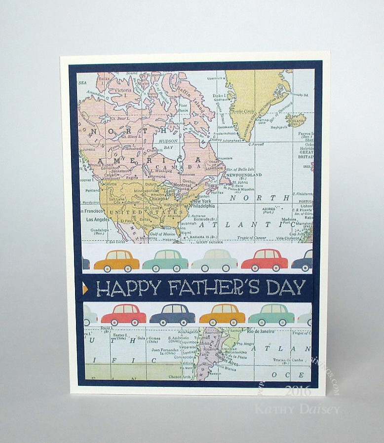 Kathy D/Paper and ink imaginings/father's day car map