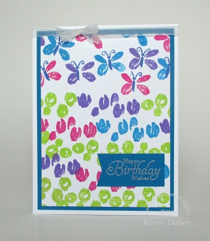 lily collage distress inks birthday