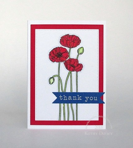 remembrance poppies thank you note