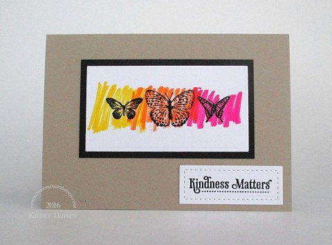 kindness scribbled butterflies note