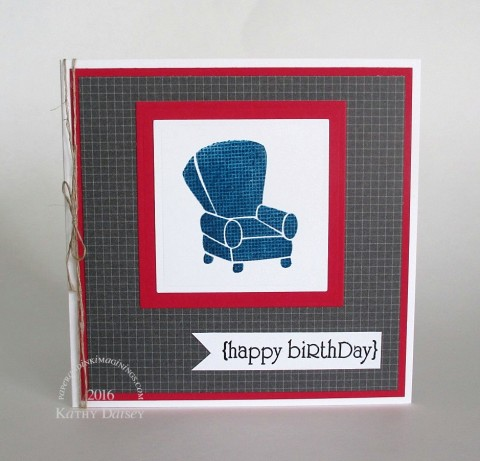 recliner birthday with kissing