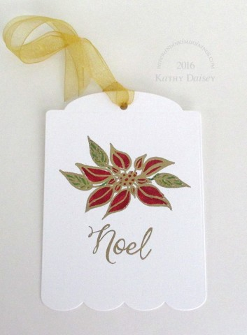 noel poinsettia tag