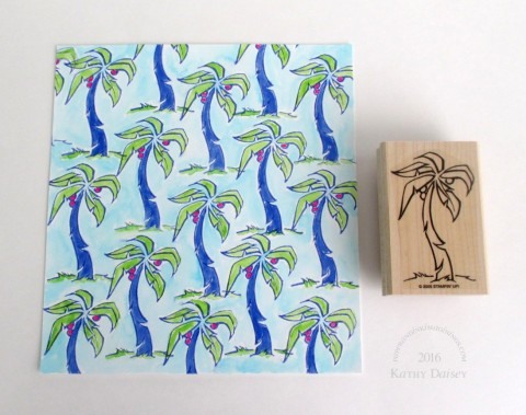 watercolored palm trees a la lilly background