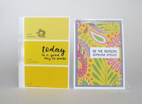 yellow smile note cards