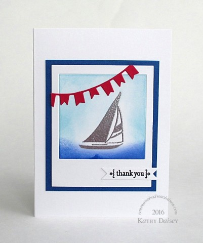 nautical polaroid thank you note