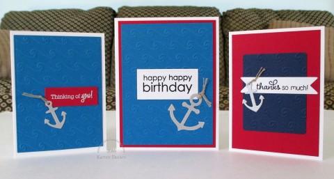 nautical red white blue trio