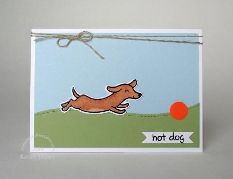 hot-dog-wiener-dog-note-card
