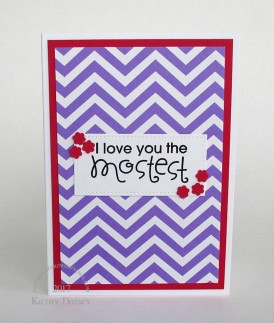 purple chevron mostest note