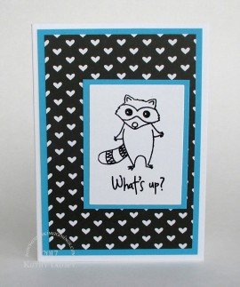 raccoon with Avery Elle hearts note