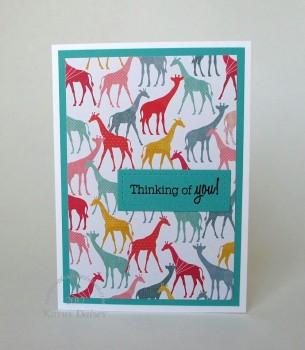 oh happy life giraffe thinking note