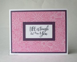 life is tough bundles of blossoms plum